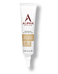 Alpha Skin Care Dual ACtion Skin Lightener tube