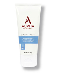 Alpha Skin Care Moisturizing Facial Sunscreen tube